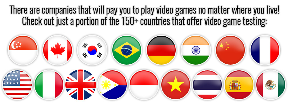 Video Game Tester Jobs Countries